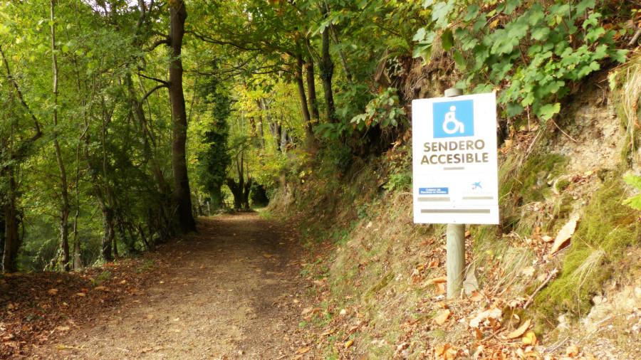 la senda accesible del Parque Natural de Redes
