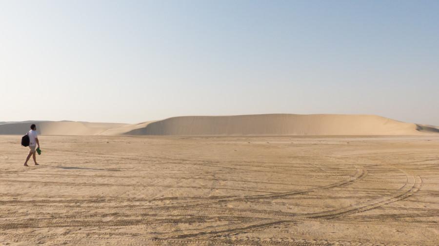 Aterdece en el desierto de Qatar