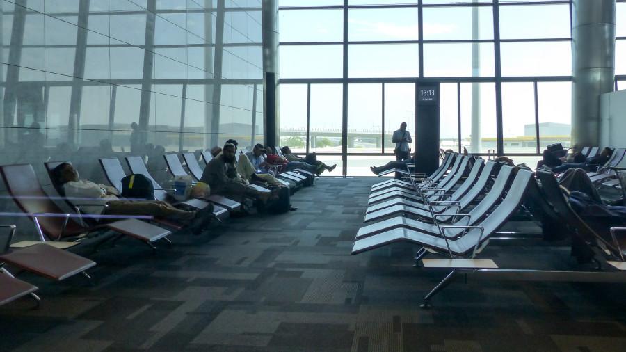 Zona de descanso en el Aeropuerto Internacional Hamad