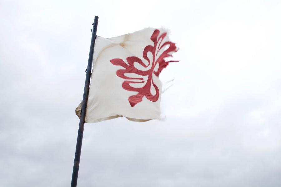 Bandera de las cruzadas (castillo de Alcaudete)