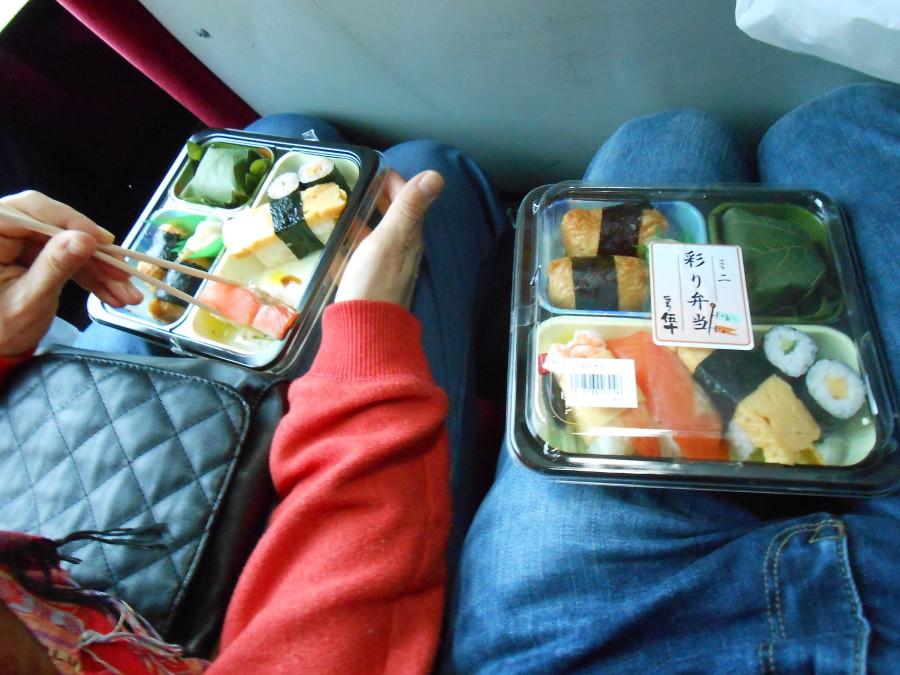 Cajas de Bento camino de Arashiyama