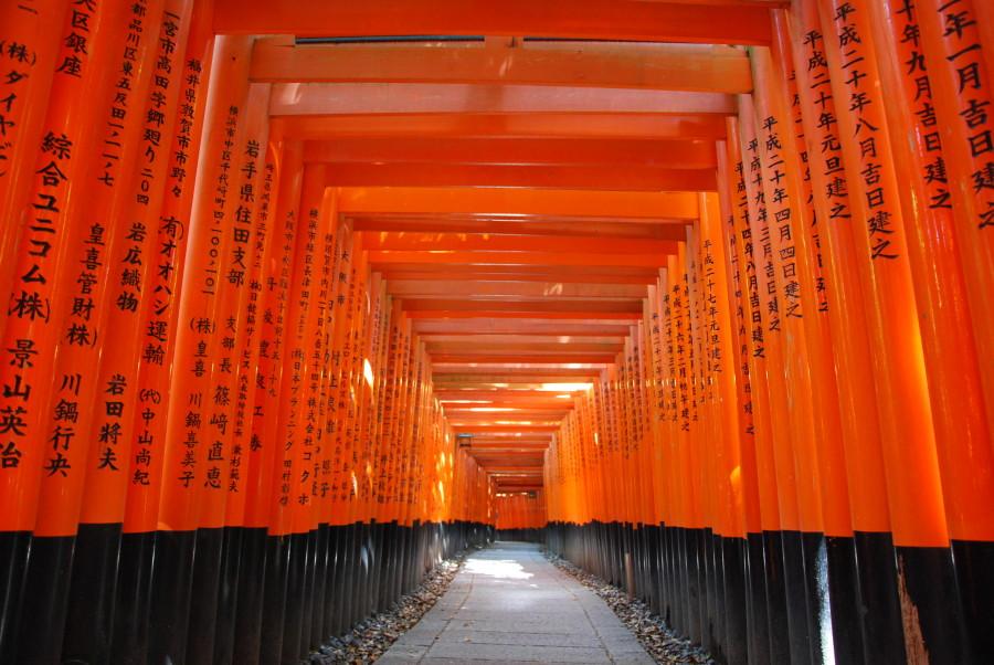 Templo de Fushimi Inari en Kioto