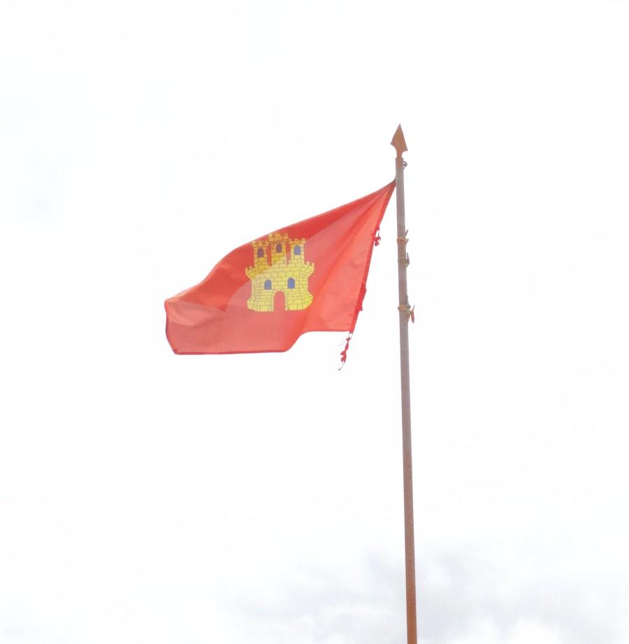 bandera situada donde se situaron los cristianos antes de iniciar la batalla de las Navas de Tolosa
