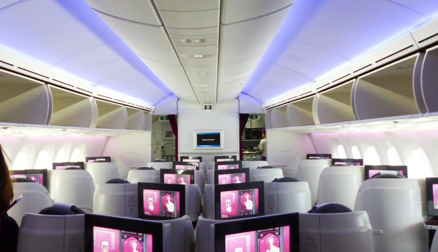 cabina business qatar airways
