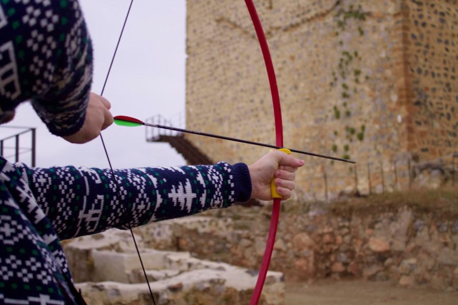 tiro con arco en el castillo de Alcaudete