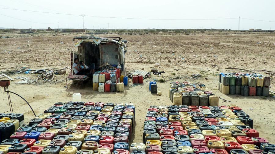 Puesto de contrabando de gasolina de Libia