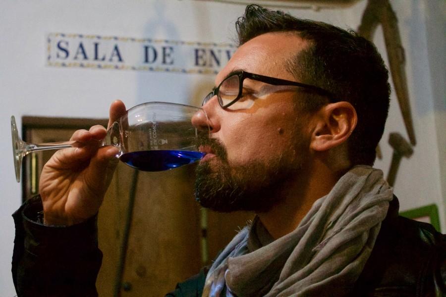 vino azul, el Lagar
