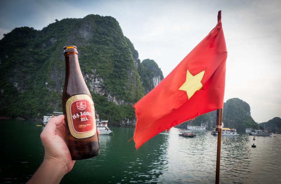 Cervecita en el barco