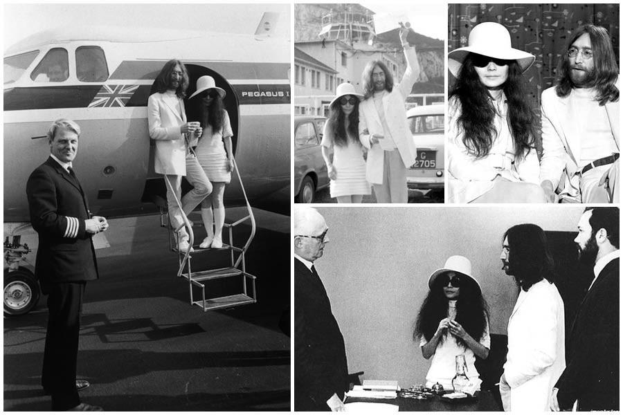 Boda de John Lennon y Yoko Ono en Gibraltar