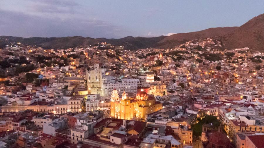 Guanajuato vistas desde el mirador pipila