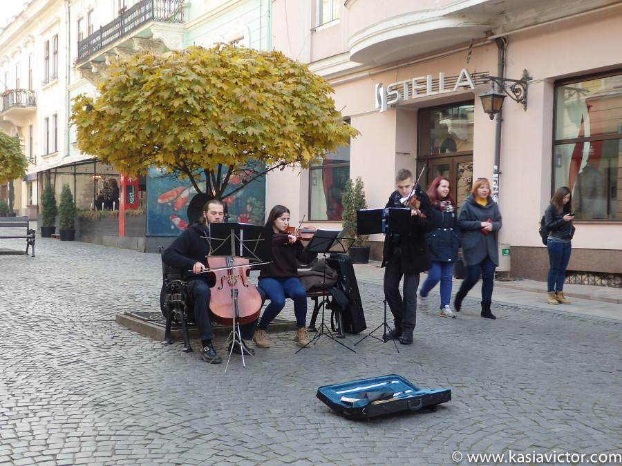 Músicos en la calle Kobylyans´koi