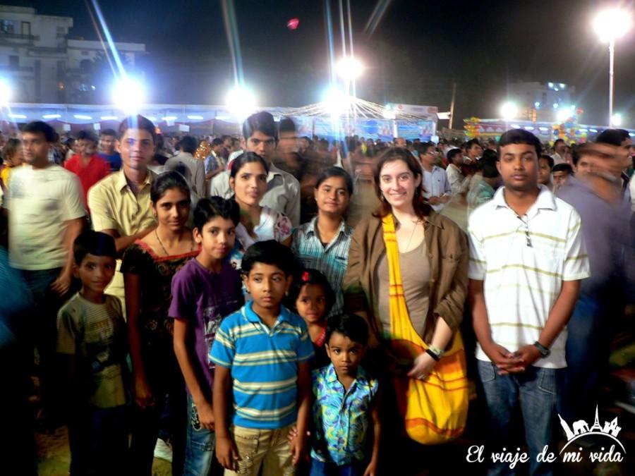 En las festividades del Diwali en India