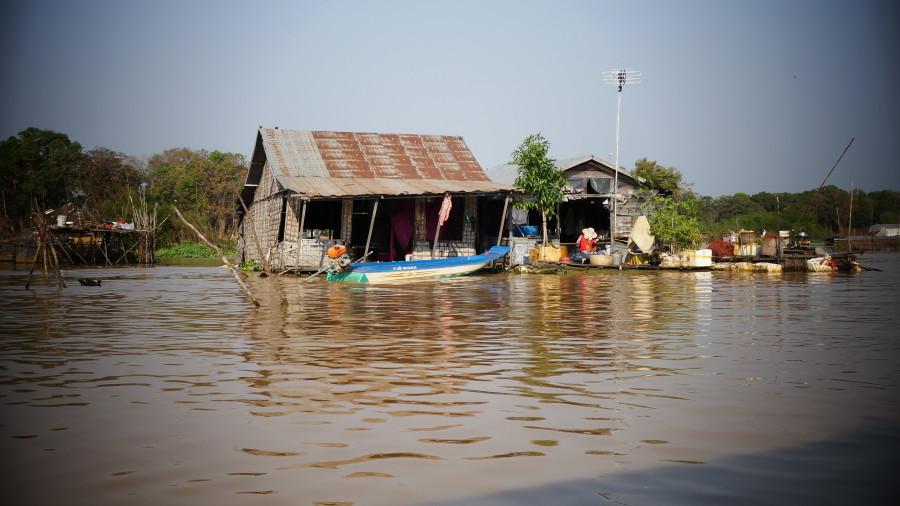 Actualmente en el lago Tonlé Sap hay pueblos flotantes
