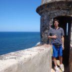 El viajero Piero Vasquez en Puerto Rico