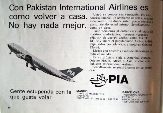 International Pakistan Airlines 1981